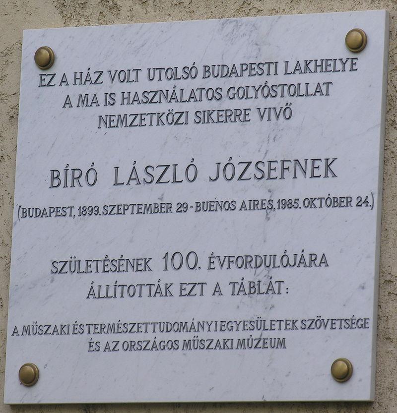 biro-laszlo_emlektabla